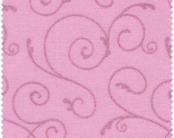 Fat Quarter Pastel Pink Swirls Pearl Essence Gemstones by Fresh Water Designs Cotton Fabric