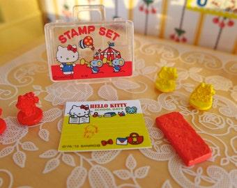 Hello Kitty Miniature Stamp set Blythe & Barbie size