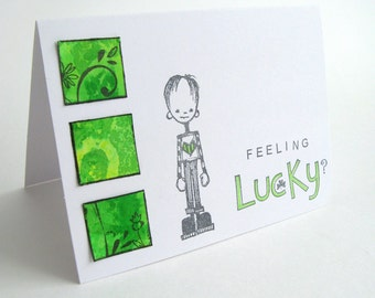 St. Patrick's Day, Card, Lucky, St. Pat's, St. Patrick's Day Card, Greeting Card, Lucky Card, Four Leaf Clover, Card for Him, Card for Her