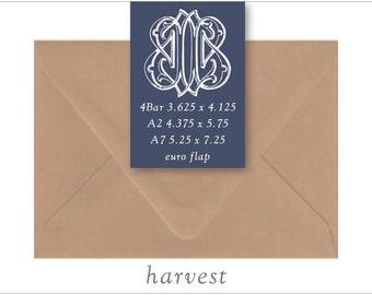 Harvest | 10 Blank Euro Envelopes | A7 • A2 • RSVP
