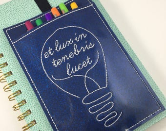 Pen Holder planner band- pen pocket band -best gifts for her -  bullet journal accessories