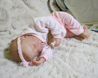 "Reborn Baby, ""Selina"", Reborn Baby Girl, Brittany Asleep Kit, Reborn Doll, Ready to Ship"