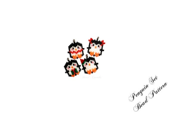 Bead Patterns Christmas Penguin Set