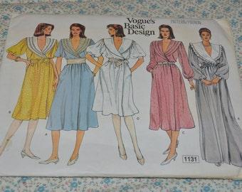 Vogue 1131 Misses Dress Sewing Pattern - UNCUT -  Size 12