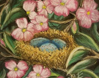 Robin's Eggs in Dogwood