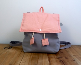 The first pink and grey backpack UNIQUE