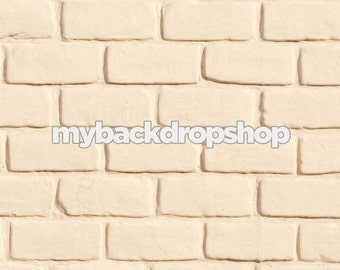 2ft x 2ft Cream Brick Wall Background for Product Photography - Brick Backdrop for Product Prop - Item 420