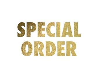 Special Order- design change