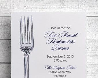 Corporate Dinner Invitation Company Dinner Invitation Fundraiser Invitation Digital File for Self-Print