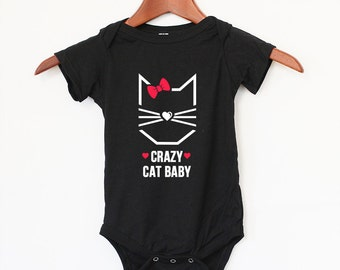 Crazy Cat Baby  Girl and Crazy Cat Baby Boy -  Cool baby bodysuit - Perfect gift for your cute baby