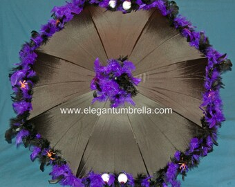 "34"" Purple and Black Monster Umbrella"