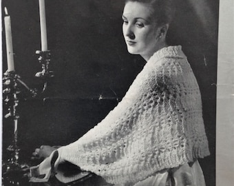 Vintage 1940s Patons Knitting Pattern for 2 x One-Piece Bed Wraps