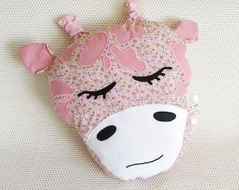 Giraffe soft toy/cushion - pink