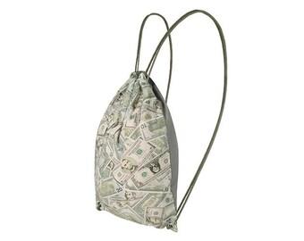 Cotton drawstring backpack gym bag Dollars