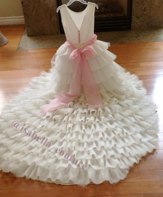 Items Similar To Flower Girl Dress, Wedding Dress, Bridal