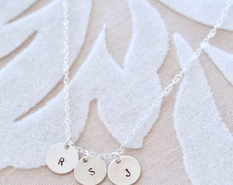 Personalized Initial Necklace - Monogram Necklace, Dainty Necklace, Children's Initial Necklace, Gift for Mom, Grandma Gift, Mommy Necklace