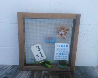 Old Wooden Memo Board - Message Board - Wooden Drawer - Wooden Sifter - Farmhouse - Cottage