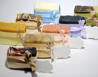 Natural Soap Gift Set of 5 - 11 Types of Soaps to Choose From!