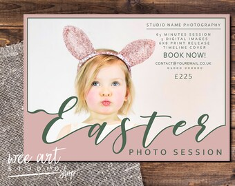 Easter Photo Session / mini session template for Photographers 7x5