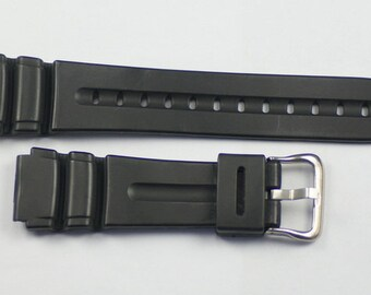 Watch Strap for Casio type 19mm ends Divers resin band replacement straps