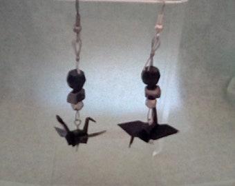 Black Origami Earrings