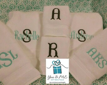 Extra Thick Luxury Towel Set Bath Towel Hand Towel Washcloth personalized monogram names etc