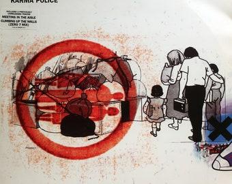 Rare Original '97 RADIOHEAD Karma Police Parlophone Records Imported British 12 Vinyl Press EP Single MINT L@@K Thom Yorke Post Prog Classic