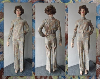 70s Vintage Two Pieces Set // Lurex // Kriesemer Of Switzerland // Size 42