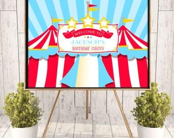 "Printed Circus/Carnival Poster, 36"" x 48"", 24"" x 36"" OR 18"" x 24"", Birthday, Circus Tent Poster, School/Church Carnival Poster"