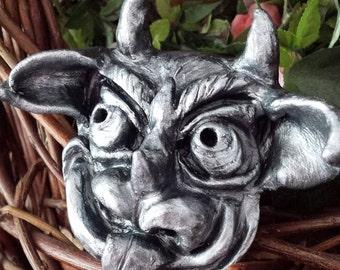 OOAK Handsculpted clay gargoyle