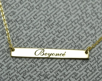Personalized Name Necklace, Name Bar Necklace, Custom Bar Necklace, Necklace For Women Personalized, Name Necklace Bar, Name Necklace Gift