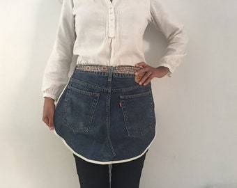 Half waist apron - Aprons from Second Hand Jeans - Recycled Denim - Personalised apron - Denim apron - Linens - Handmade apron - Upcycled de