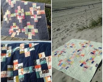 PDF Katie's Compass Quilt Pattern Charm Pack Pattern Jelly Roll Pattern