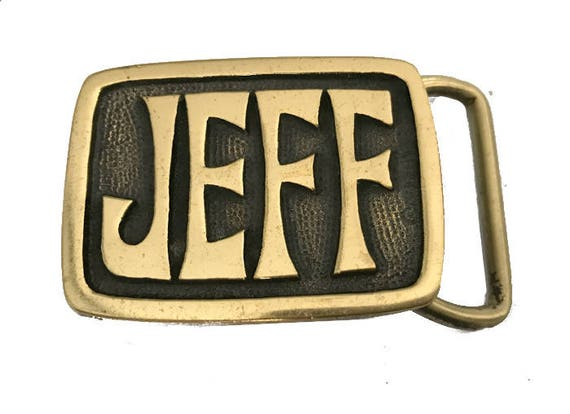 Vintage Jeff Name Belt Buckle Personalized Labor Day Sale