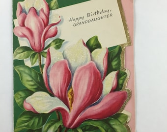 Magnolia Birthday Card