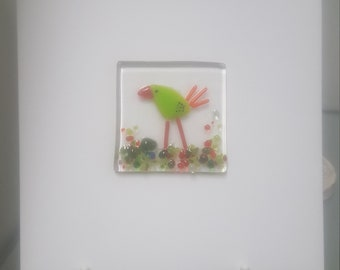 Fused Glass Greeting Card - Easter Card