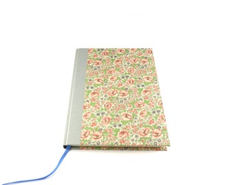 Diary / Notebook Flowery Meadow pink grey, stationery