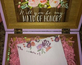 Will you be my Bridesmaid // Maid of Honor Box