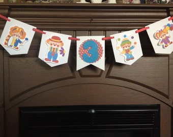 Circus Clown Birthday Party Mini Banner