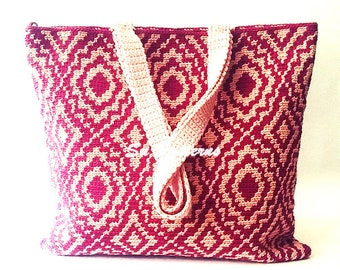 Vintage Crochet Tote Pattern, Crochet Pattern, Crochet Bag Pattern, Crochet Tote Pattern, Crochet Purse Pattern, Tapestry Crochet Pattern