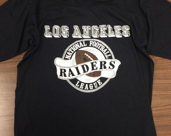 RARE Vintage 80s Los Angeles Raiders NFL T-Shirt
