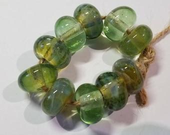 Lampwork Glass Borosilicate Beads TRANSPARENTS Two Sisters Designs 061818C