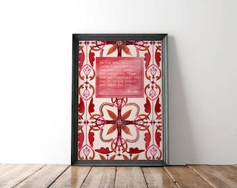 Literary art print, literary Buddha quote, literary gift, quote art print, typography art print, custom quote print, inspiration