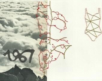 San Francisco 1967 - Embroidery on paper Original illustration