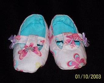 Baby Girls Mary Jane T-Strap Pink Baby Booites