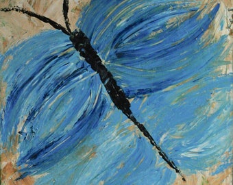 Abstract Acrylic Painting - Butterfly