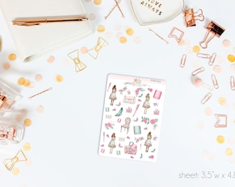 MINI Spring Forward Deco Stickers // Perfect for ECLP, A5, Personal, Filo, or any planner // DM0550