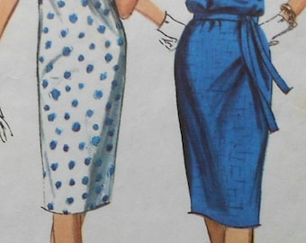 Vintage Dress Sewing Pattern Simplicity 5876 Size 12