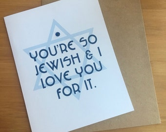 Jewish cards etsy youre so jewish m4hsunfo