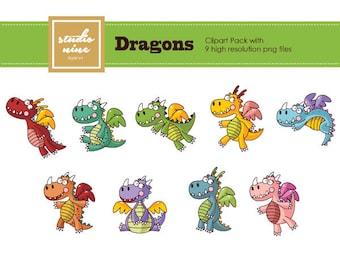 Dragons Clipart Set